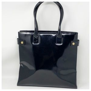 Authentic Gucci Black Leather Tote